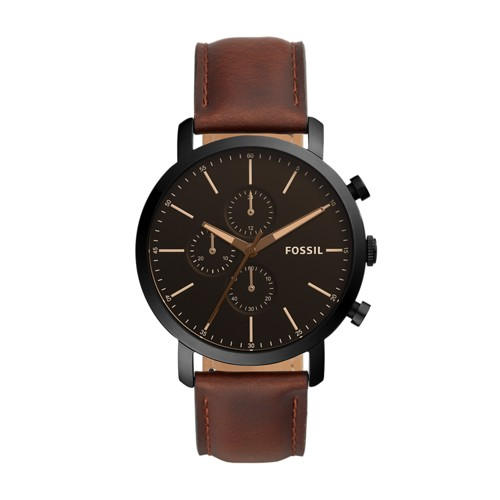 Fossil Luther Chronograph Brown Leather Watch  jewelry