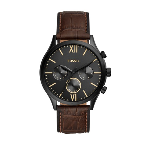 Fenmore Midsize Multifunction Brown Leather Watch BQ2472