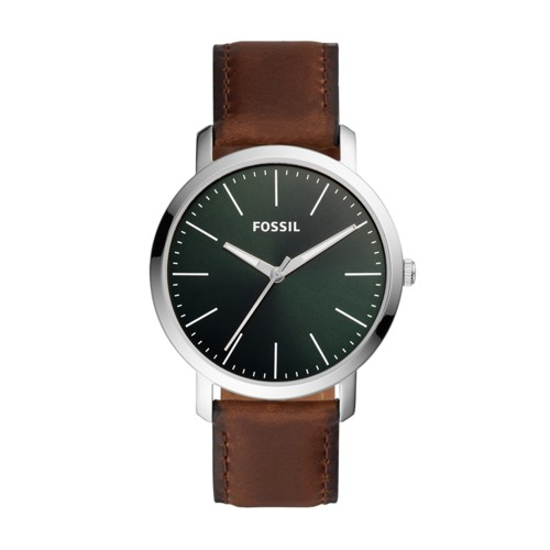 Luther Three-Hand Brown Leather Watch BQ2475
