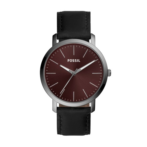 Luther Three-Hand Black Leather Watch BQ2476