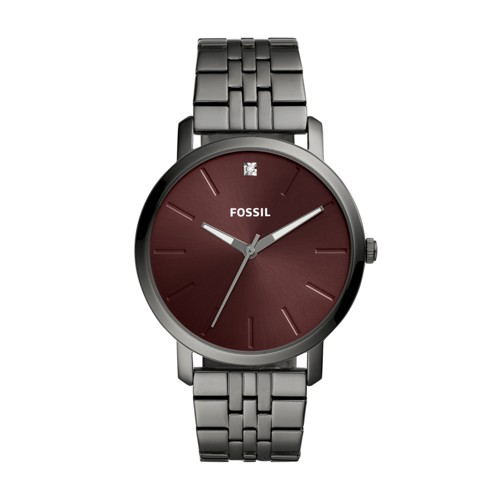 Lux Luther Three-Hand Smoke Stainless Steel Watch BQ2480