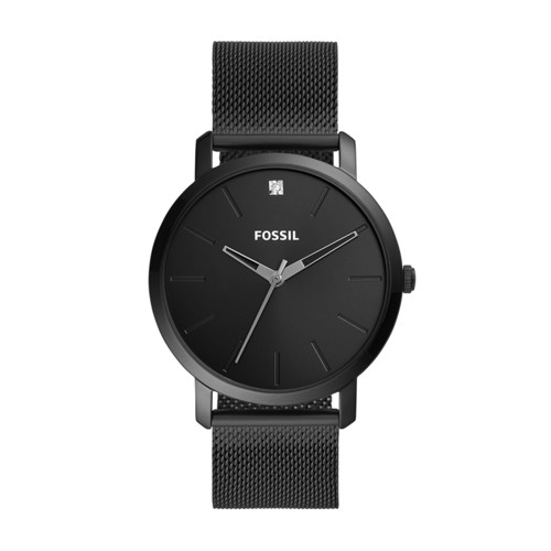 Lux Luther Three-Hand Black Stainless Steel Mesh Watch BQ2481