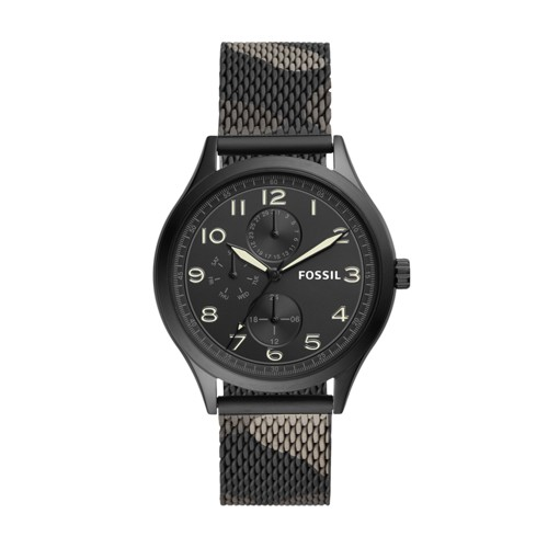 Wylie Multifunction Camo Stainless Steel Watch BQ2486