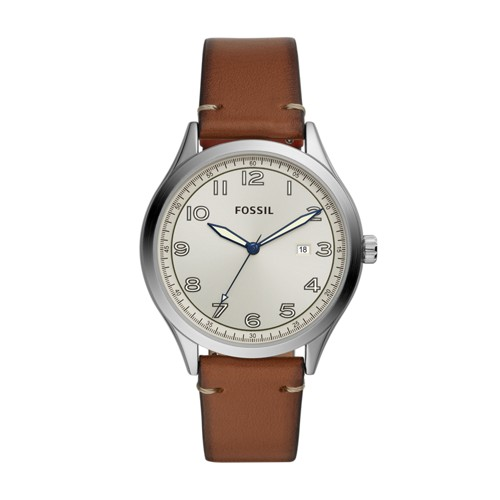 Fossil Wylie Three-Hand Luggage Leather Watch  jewelry