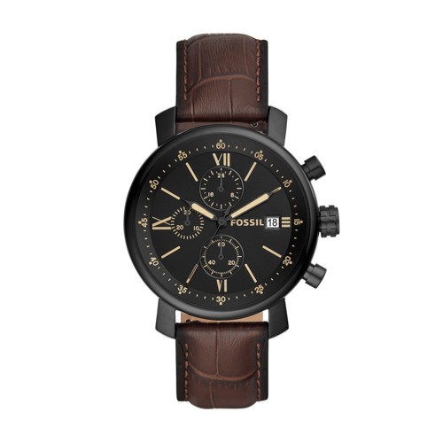 Rhett Chronograph Brown Leather Watch BQ2495
