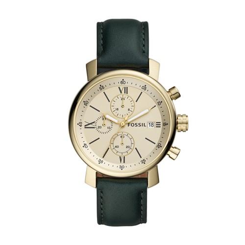 Rhett Chronograph Dark Green Leather Watch BQ2497