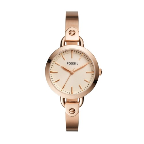 Fossil Classic Minute Three-Hand Rose Gold-Tone Stainless Steel Watch BQ3026