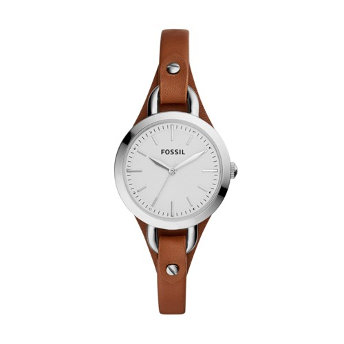Fossil Classic Minute Three-Hand Brown Leather Watch BQ3029