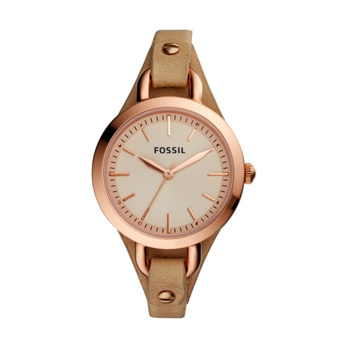 Fossil Classic Minute Three-Hand Tan Leather Watch BQ3030