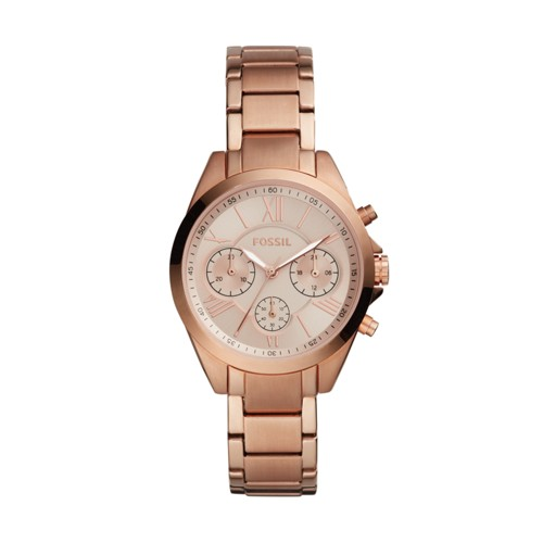 Fossil Modern Courier Midsize Chronograph Rose Gold-Tone Stainless Steel Watch BQ3036