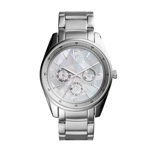Fossil Justine Multifunction Stainless Steel Watch Bq3102
