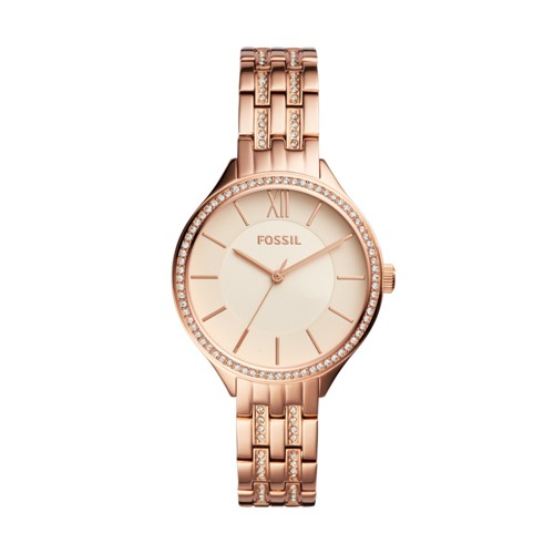 Fossil Suitor Three-Hand Rose Gold-Tone Stainless Steel Watch BQ3116