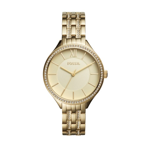Fossil Suitor Three-hand Gold-Tone Stainless Steel Watch BQ3117