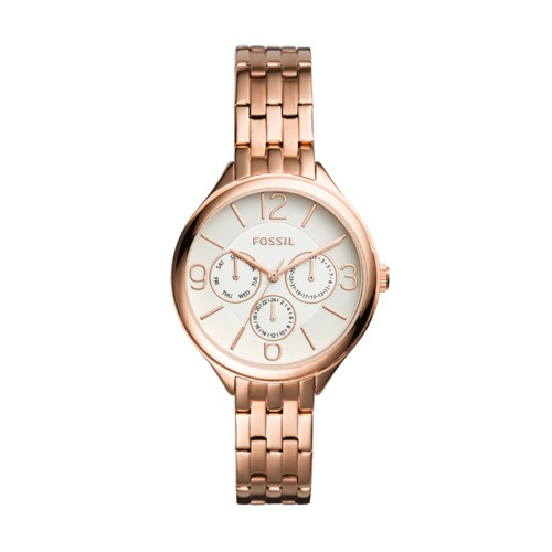 Fossil Suitor Multifunction Rose Gold-Tone Stainless Steel Watch BQ3127