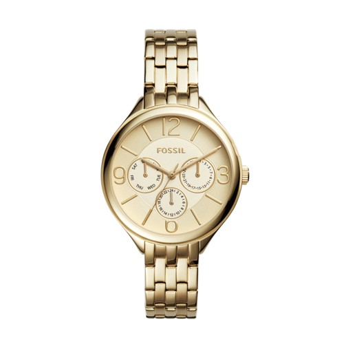 Fossil Suitor Multifunction Gold-Tone Stainless Steel Watch BQ3128
