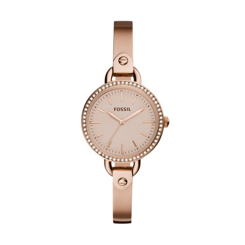Fossil Classic Minute Three-Hand Rose Gold-Tone Stainless Steel Watch BQ3163