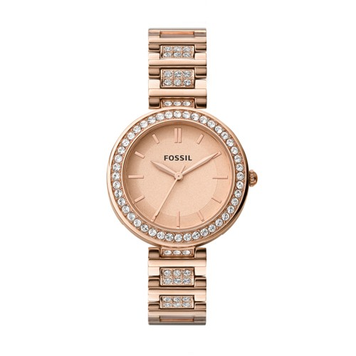 Fossil Karli Three-Hand Rose Gold-Tone Stainless Steel Watch BQ3181
