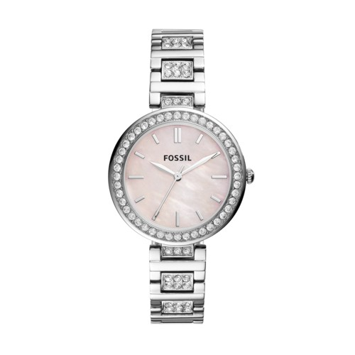 Fossil Karli Three-Hand Stainless Steel Watch  Jewelry