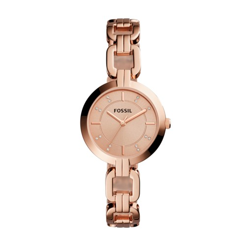Fossil Kerrigan Three-Hand Rose Gold-Tone Stainless Steel Watch BQ3206