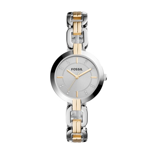Fossil Kerrigan Three-Hand Two-Tone Stainless Steel Watch BQ3207