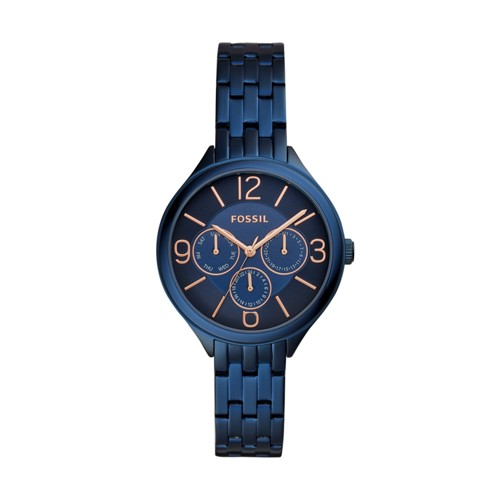 Suitor Three-Hand Blue Stainless Steel Watch BQ3225