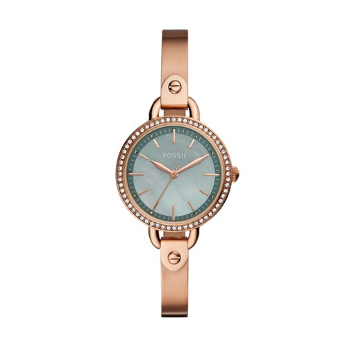 Fossil Classic Minute Three-Hand Rose Gold-Tone Stainless Steel Watch BQ3277