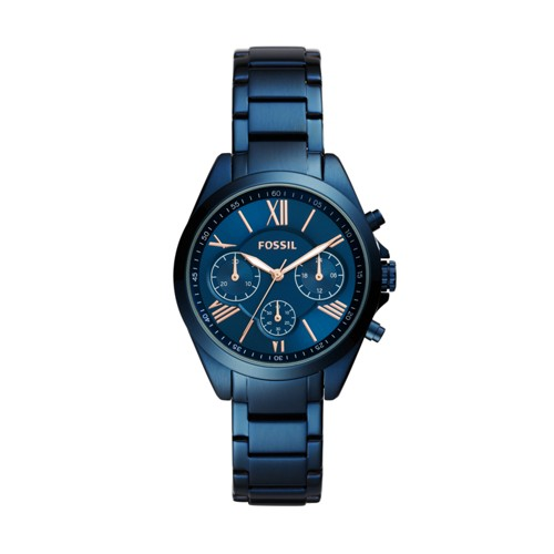 Fossil Modern Courier Midsize Multifunction Ocean Blue Stainless Steel Watch BQ3303