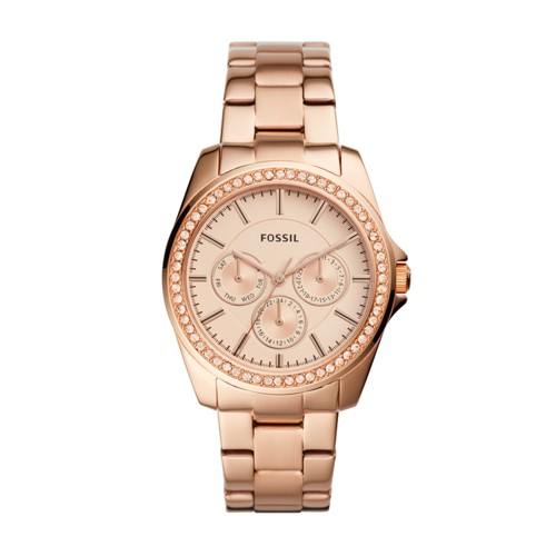 Fossil Janice Multifunction Rose Gold-Tone Stainless Steel Watch BQ3316