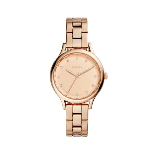 Fossil Laney Three-Hand Rose Gold-Tone Stainless Steel Watch BQ3321