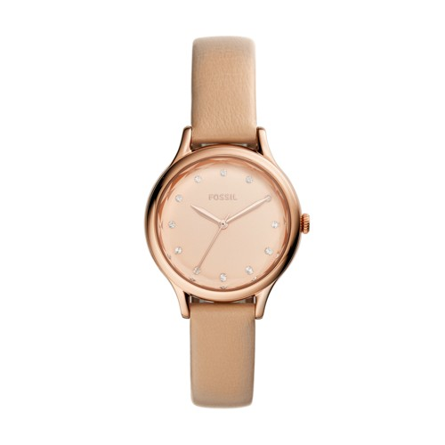 Fossil Laney Three-Hand Tan Leather Watch  Jewelry