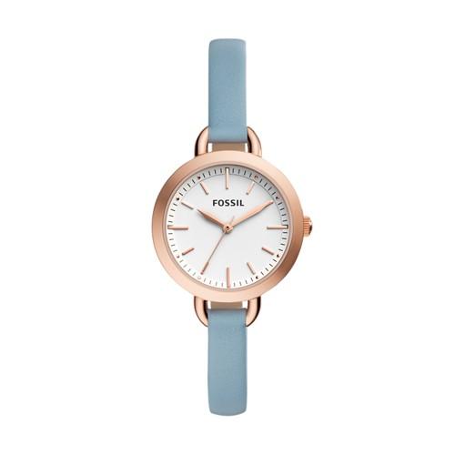 Fossil Classic Minute Three-Hand Blue Leather Watch Bq3327