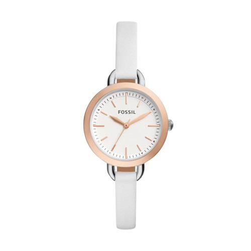 Fossil Classic Minute Three-Hand White Leather Watch BQ3328
