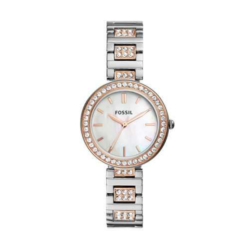 Fossil Karli Three-Hand Two-Tone Stainless Steel Watch BQ3337