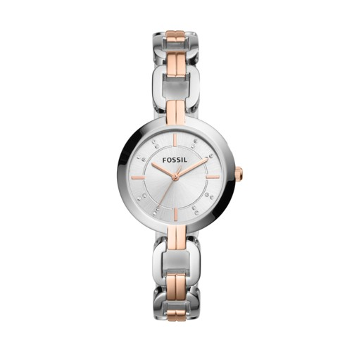 Fossil Kerrigan Three-Hand Two-Tone Stainless Steel Watch BQ3341