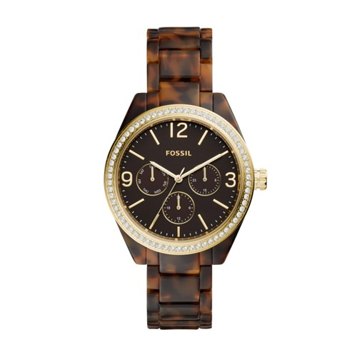 Caleigh Multifunction Tortoise Acetate Watch BQ3344