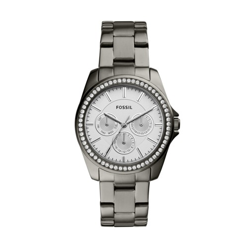 Fossil Janice Multifunction Smoke Stainless Steel Watch Bq3346