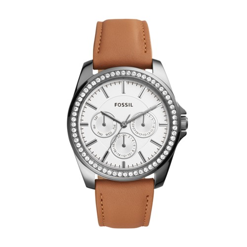 Fossil Janice Multifunction Brown Leather Watch BQ3347