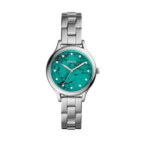 Fossil Laney Three-Hand Stainless Steel Watch BQ3356