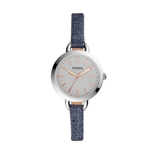 Fossil Classic Minute Three-Hand Blue Denim Watch BQ3357