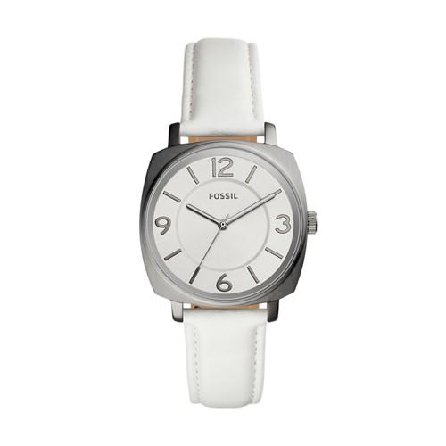 Fossil Blakely Three-Hand White Leather Watch BQ3360