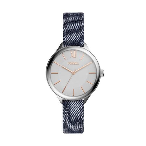 Fossil Suitor Three-Hand Blue Denim Watch BQ3364