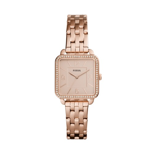 Fossil Shiloh Three-Hand Rose Gold-Tone Stainless Steel Watch BQ3366IE