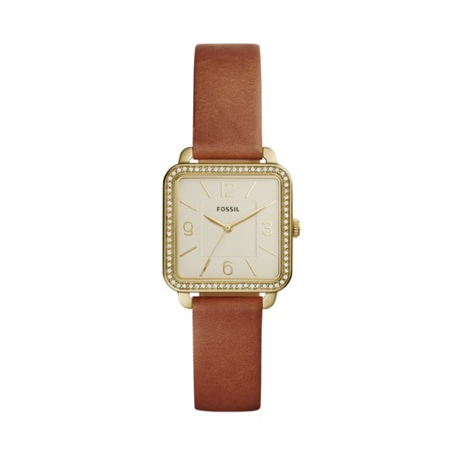Fossil Shiloh Three-Hand Brown Leather Watch BQ3369IE