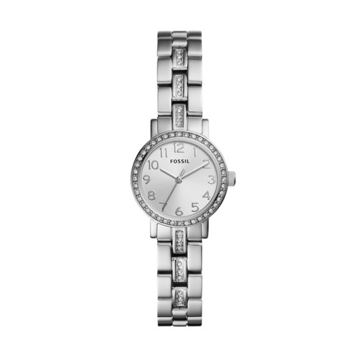 Fossil Shae Mini Three-Hand Stainless Steel Watch  Jewelry