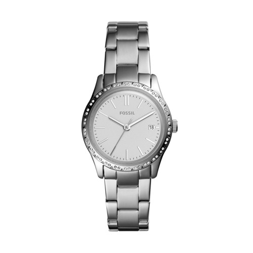 Fossil Adalyn Three-Hand Stainless Steel Watch  Jewelry