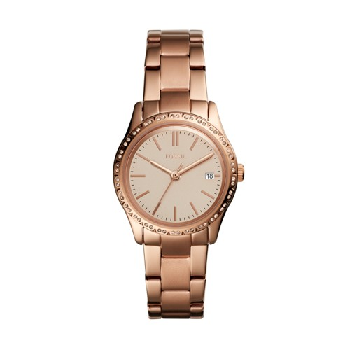 Fossil Adalyn Three-Hand Rose Gold-Tone Stainless Steel Watch BQ3374