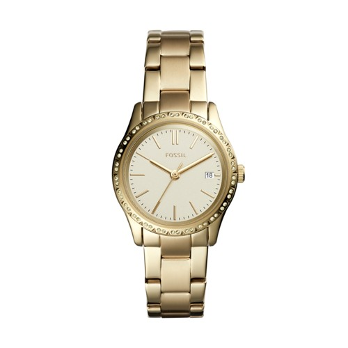 Fossil Adalyn Three-Hand Gold-Tone Stainless Steel Watch BQ3375