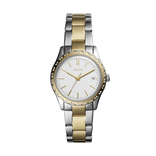 Adalyn Three-Hand Two-Tone Stainless Steel Watch BQ3376