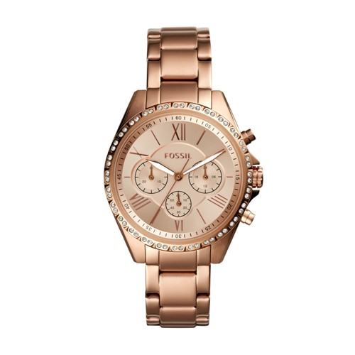 Fossil Modern Courier Chronograph Rose Gold-Tone Stainless Steel Watch BQ3377