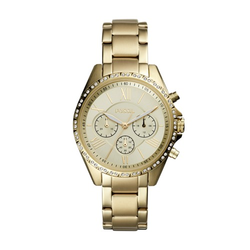 Fossil Modern Courier Chronograph Gold-Tone Stainless Steel Watch BQ3378